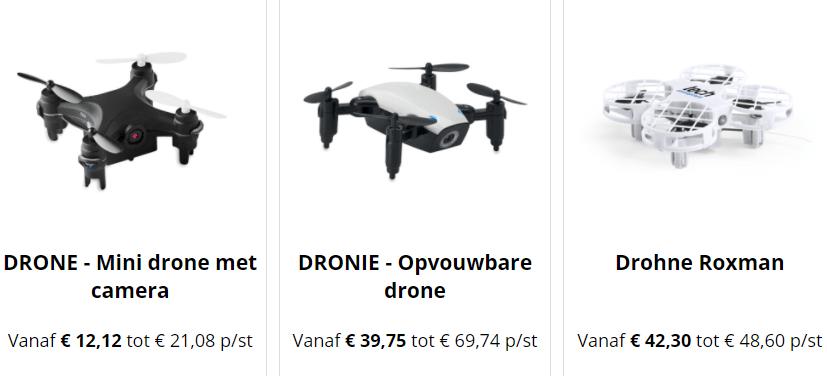 bekijk onze bijzondere bedrukbare drones,
