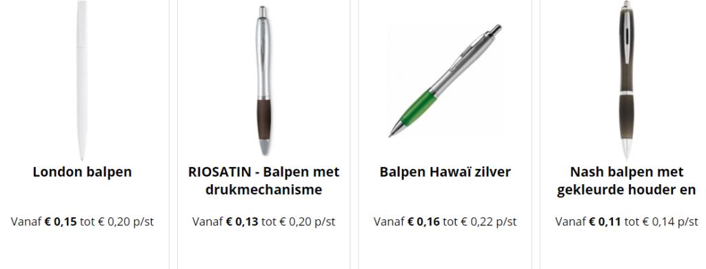bekijk onze goedkope balpennen producten,