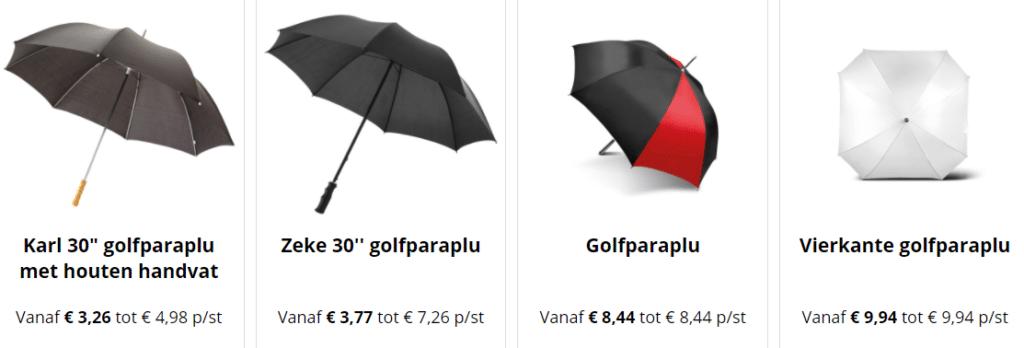 golfparaplu bedrukken